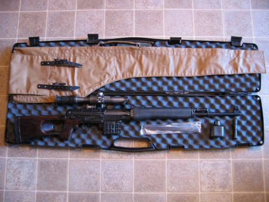 Russian SVD Tiger rifle with accessories