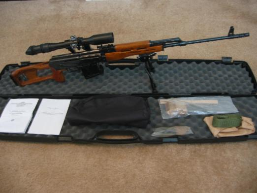 Romanian PSL rifle with bipod in case with accessories