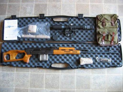 Romanian PSL rifle in 7.62x51 in case with accessories