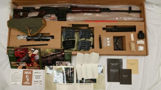 Russian Dragunov SVD in box with accessories