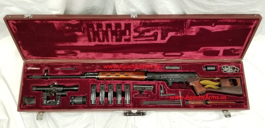 Norinco NDM-86 rifle in case with accessories