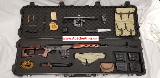 Russian SVD Dragunov in case with scope and accessories