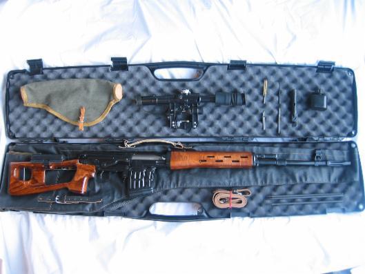 Russian SVD Dragunov Tigr in case with accessories